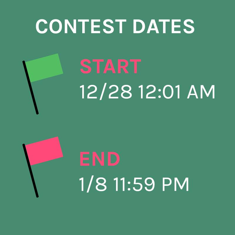 Contest Dates:Only unique tips first created between 12/28 12:01 AM and 1/8 11:59 PM will be considered for this contest.