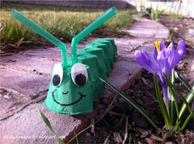 -> Little Caterpillar  -> You can make with egg cartons, straws and googly eyes