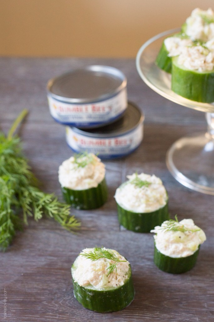 Tuna cucumber cups - great as a little snack and super tasty too