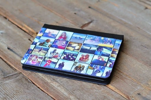 Made this iPad cover highlighting some of our favorite Instagram photos from the last year.  Wouldn't this make a great holiday gift for family members? You can have custom iPad covers made for around $55 online but this one cost me around $20 to make.