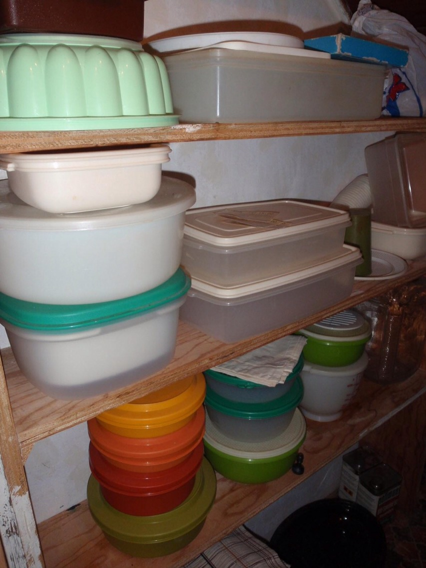 Old Tupperware. There's so many different containers and lids, some missing, some not needed. Save yourself the agony of reaching for a container to pack your sandwich, and spending 10 minutes finding a matching lid and container.