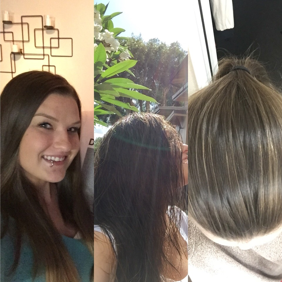 Bleaching hair with just a lemon and sunlight. 1st picture, before. 2nd picture,1lemonsoaked hair and sunlight for 15 mins. 3rd picture, after the process. Warning: make sure you was your face after applying lemon juice to hair. The lemon juiceonskin with the sun can cause dark spots on face