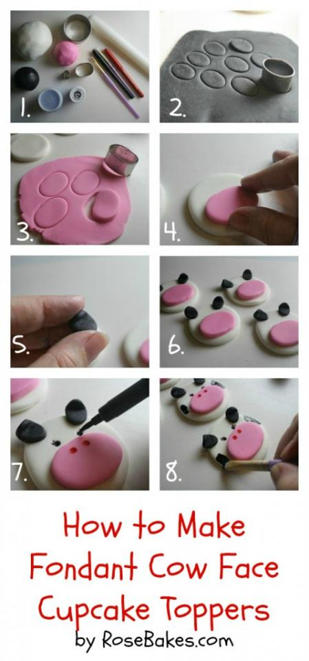 how to make fondant numbers