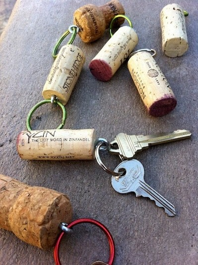 4. Floating Keys  If you don't want to worry about losing an important set of keys in the water, attach a cork to them to create a mini flotation device! via Green Moxie