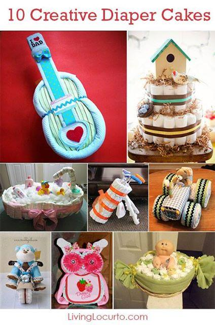 http://www.livinglocurto.com/2014/02/diaper-cakes-baby-shower-party/#sthash.gVSEKM5L.dpbs