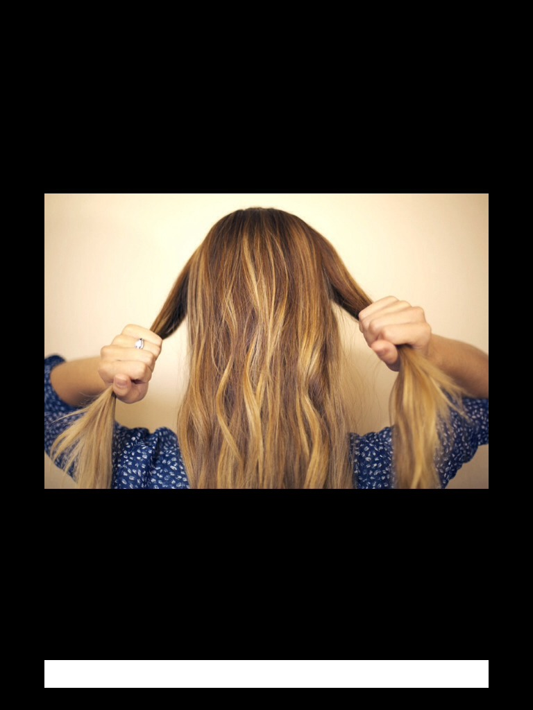 Firs take two sections of hair on both sides of your head as shown
