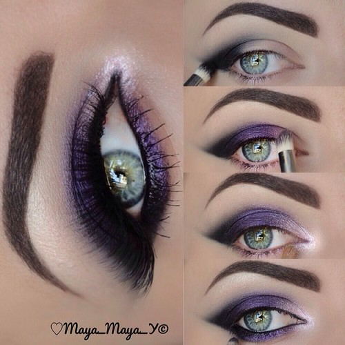 purple smokey eye!
