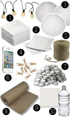boxwood clippings_10 things you should have on hand for a party