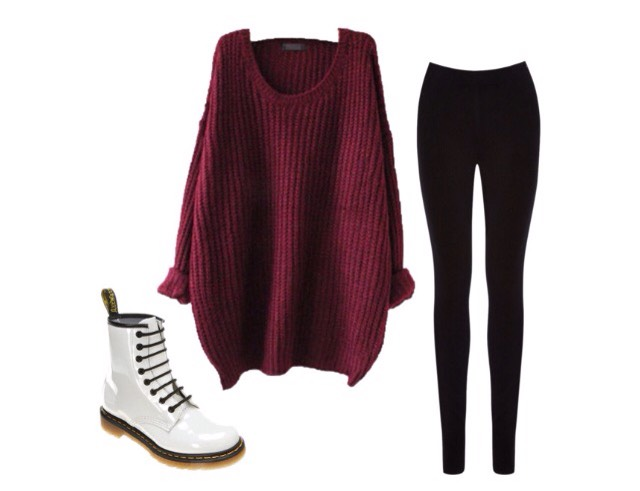 Number 3- baggy jumper, ankle boots