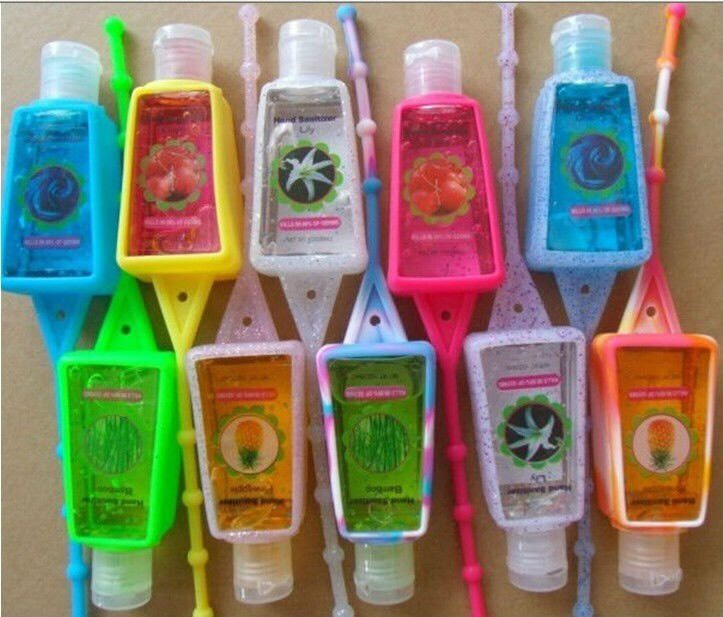 Miniature hand sanitizer to help prevent sickness