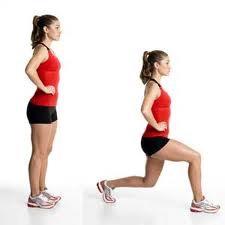 15 lunges each leg