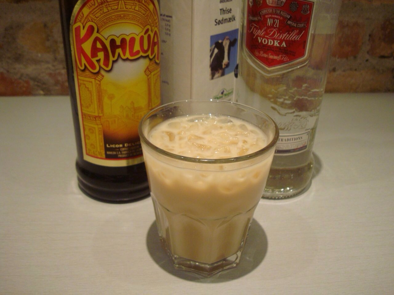 A little kahlua, a splash of vodka and some milk makes for a great after dinner drink. A good pair for brownies as well!