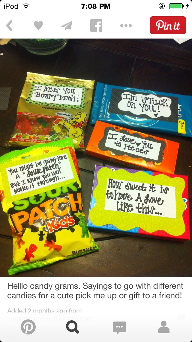 Sweet Punny Candy Love Notes By Kayla Musely