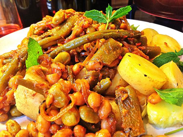 Slow Cooked Middle Eastern 4 Bean Casserole - Vegan - Serves 3-4