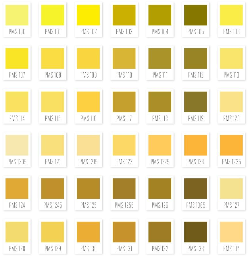 Complete Pantone Ink Color Chart Useful To Decor By Stephanie