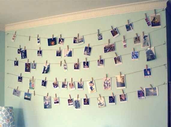 I thought this was another creative way to remember great moments and to decorate your room 😃😃