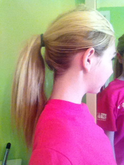 ✨First, put your hair up into a high ponytail.✨