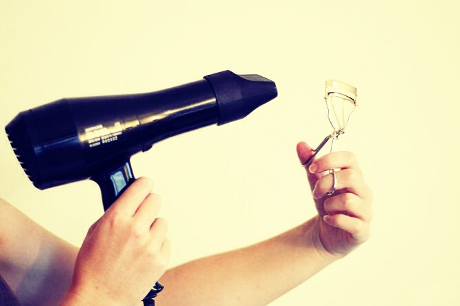 Heat Your curler with a blow dryer to get a log lasting curled eye lashes ( heat curler about 2-3 second )