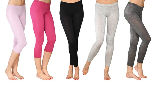 LEGGINGS ~~~~~~~~~~~~  Leggings are sooo comfy and it can spice up your outfit with its colors. From its colors it can match many different shirt colors and designs.