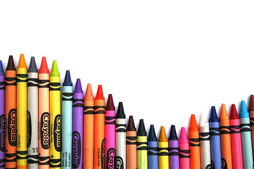 Step 1: Sort your crayons You will need enough to cover the whole top of the canvas. You can line them up however you would like: rainbow, alternating colors, lightest to darkest, etc.