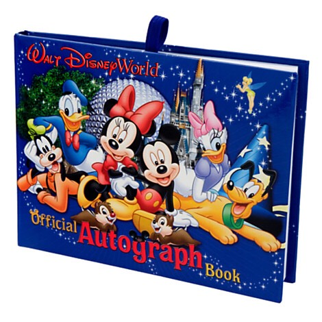 AUTOGRAPH BOOK & PEN:  What a great keepsake for holding onto childhood dreams and memories! Whether for you or your little ones, autograph books are such a valuable souvenir from a trip to Disney.