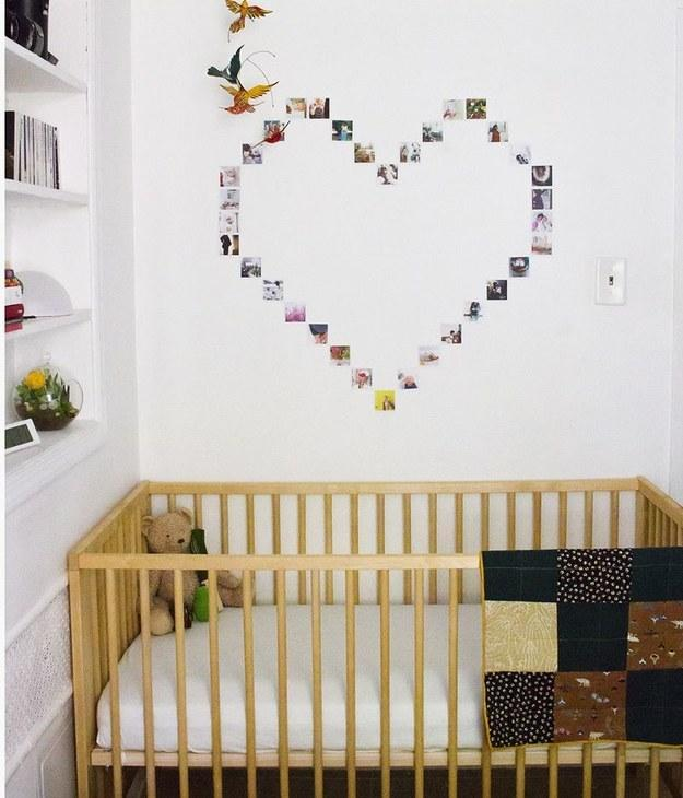 use hoilday cards to make a wall piece