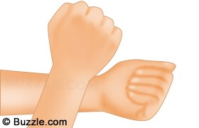 Do NOT run your wrists together