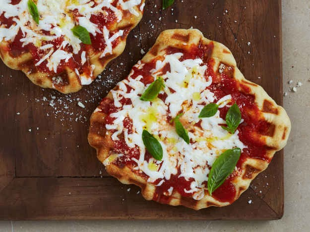 12. Waffled Margherita Pizza
