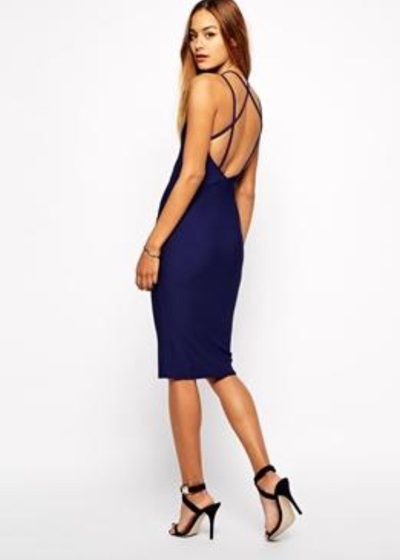 Asos Oh My Love Midi Body-Conscious Dress with Low Back