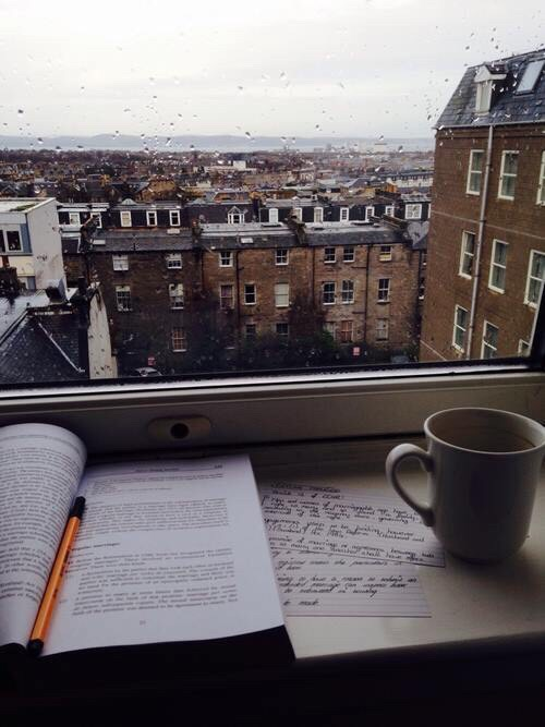 Catch up on studying while it's raining!