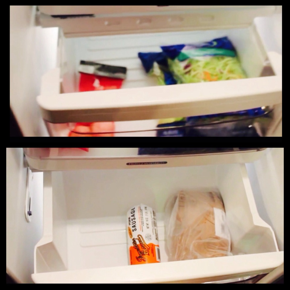 Drawer #1 store all of your veggies  Drawer #2 store meats