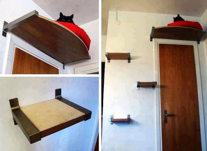 Use shelves and make a stair . No space needed