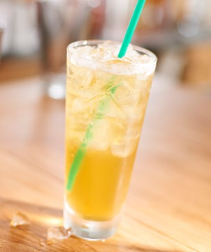 Iced Peach Green Tea. Very good and not too much calories. -Calories-80