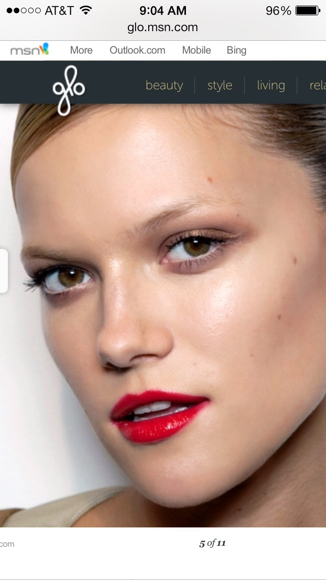 "For sun-kissed medium skin... ""Sheer reds look fresh and help prolong that back-from-vacation glow by keeping it effortless,"" says Gerstein. (They're also a good idea for anyone looking to just dip her toe in the red trend!)"