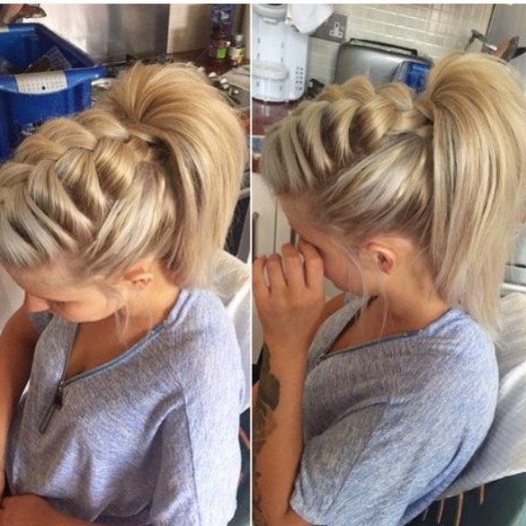 Large and Loose Braid with High Ponytail