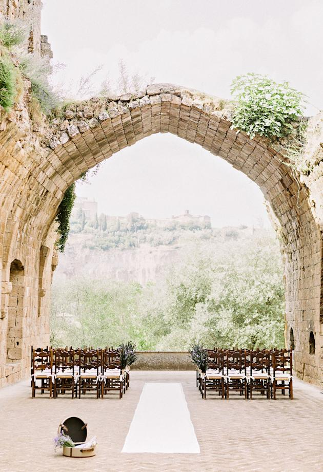 7. A Wow Venue: Choose a romantic wedding venue, and all the hard work is done for you! A medieval castle, a beautiful glasshouse, a pretty garden, or an atmospheric old church; take a stunning venue, add some candles (see below) and et voila, you've got yourself a seriously romantic setting.