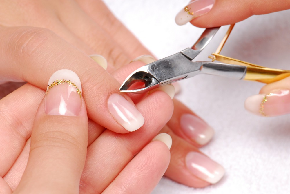 Make sure you remove the cuticle before you place your false nail on