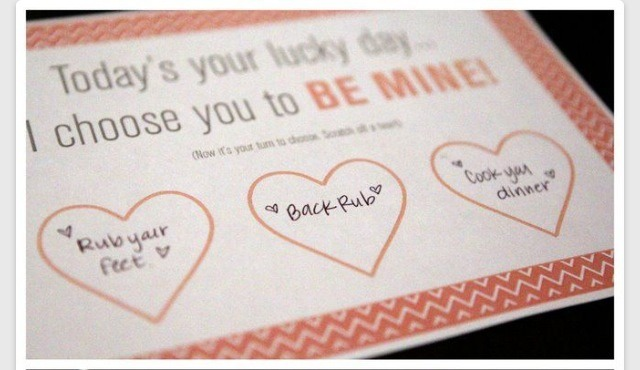 Make a little card with three choices of prizes for your partner. Ideas could include : cooked dinner, back massage, movie night  etc you know your partner so you can tailor it especially to the things they like!