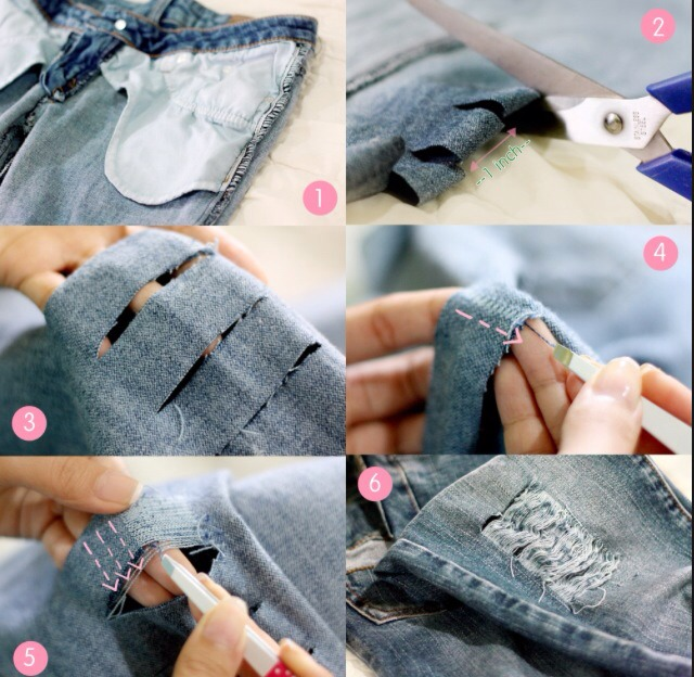 How To Make Homemade Ripped Jeans - Xtellar Jeans