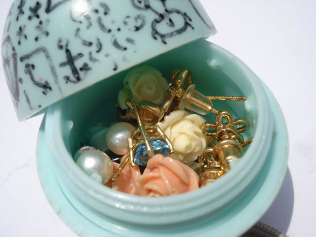 There are a lot of pictures and steps coming up on how to completely gut out your lip balm. The possibilities are endless on how you want to use it, the example I chose is as an earring holder especially nice for travel.