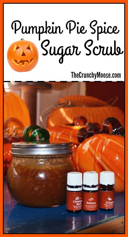 Pumpkin Pie Spice Sugar Scrub #diybeauty #essentialoils #nontoxic  From thecrunchymoose.com