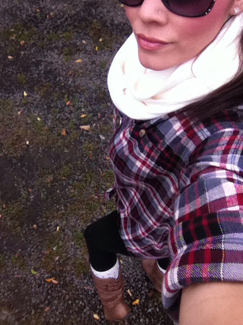 Im in WA state for the fall/winter... It's windy, rainy, and just plain gloomy. So I figured I would post tips for the everyday girl for fall wear!  I'm wearing an over sizes flannel with; leggings, boots (cute long socks) and infinity scarf with a cute plain necklace. I'll be posting more tonight!