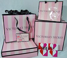 gift bags! this is the simplest idea i use all the time. VS bags make the cutest gift bags for a friend