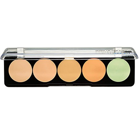 A palette that includes four shades, plus a fifth for redness cancellation, is perfect for hiding imperfections and color correcting.   Make Up For Ever 5 Camouflage Cream Palette, $38, Sephora