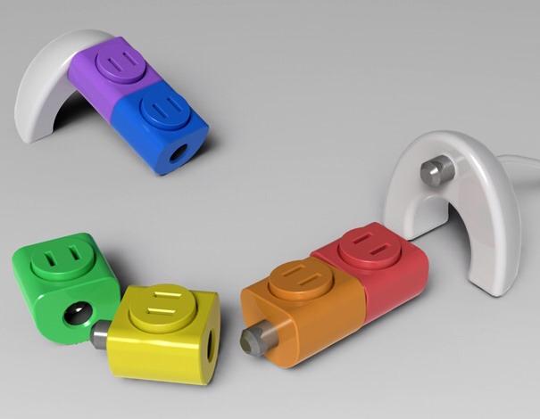Rotating 360° Lego Sockets