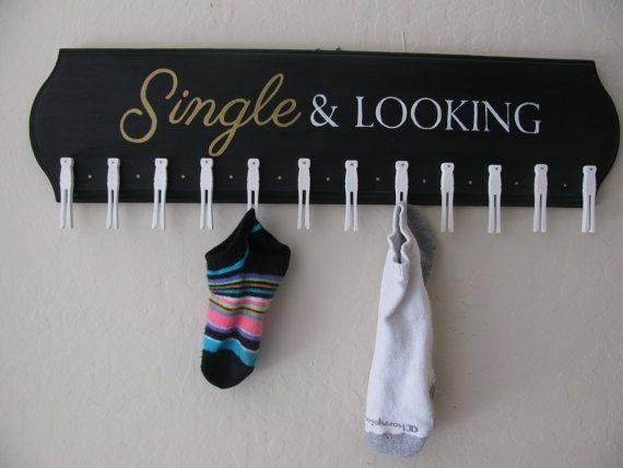 Such a cute idea.  Hang onto those socks missing their pair with something like this.