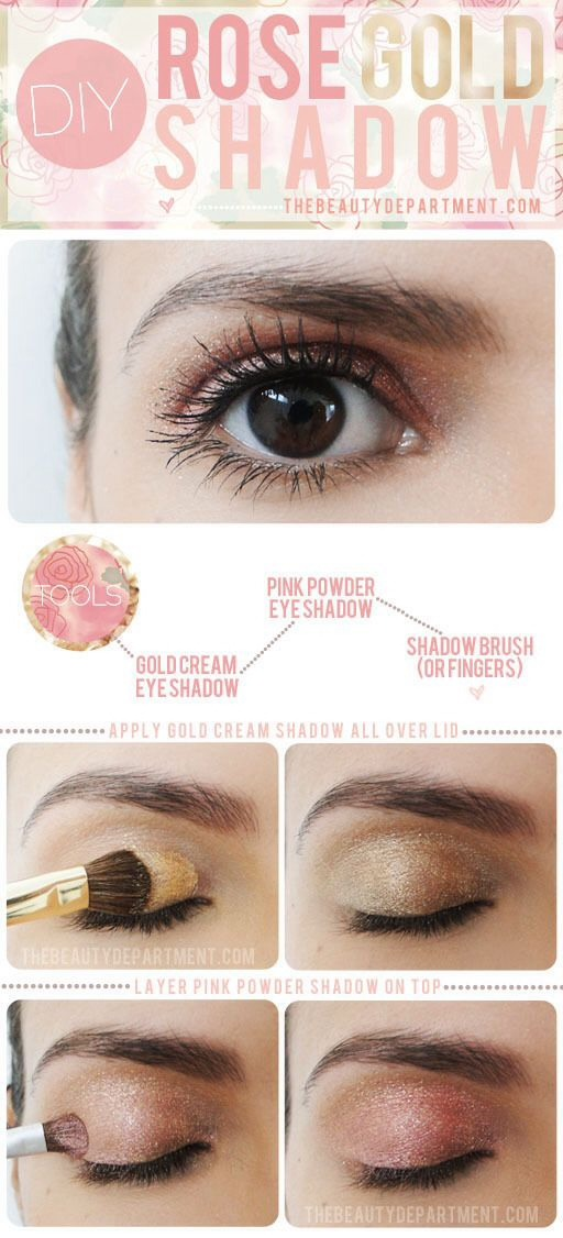 Use this technique for a champagne colour eyeshadow!
