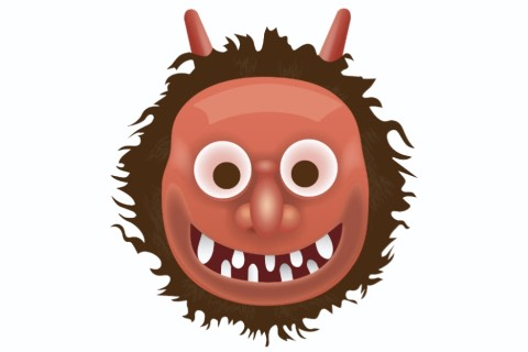2. Japanese Ogre The red-faced angry emoji isn't a mask, the devil, or a character from Where the Wild Things Are – it's a Japanese ogre.