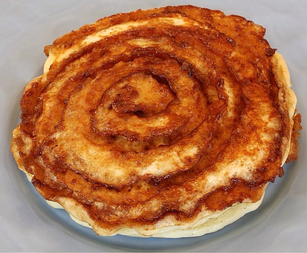 And they cooked up just like a pancake- fluffy, but with craters of crusty, sugary cinnamon swirled within.