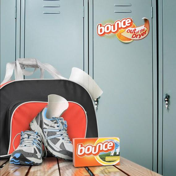 Try a Bounce sheet in your gym bag to help keep it smelling fresh